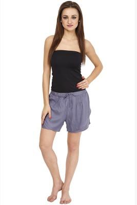 Citypret Solid Women's Blue Night Shorts