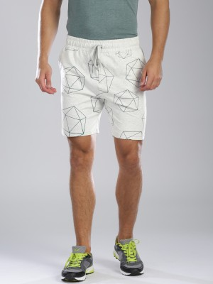 HRX by Hrithik Roshan Printed Men's Grey Sports Shorts