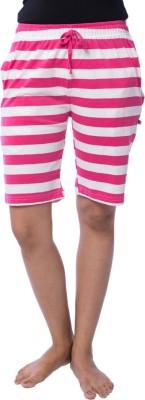 Nite Flite Printed Women's Pink, White Bermuda Shorts