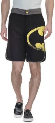 Batman Printed Men's Black Basic Shorts, Running Shorts
