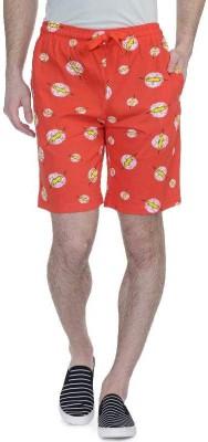 DC Comic Printed Men's Red Basic Shorts, Running Shorts