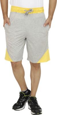 Rakshita Collection Solid Men's Grey Sports Shorts