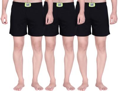 Lanosuc Solid Men's Black Boxer Shorts