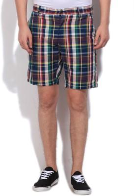 Gant Checkered Men's Multicolor Basic Shorts