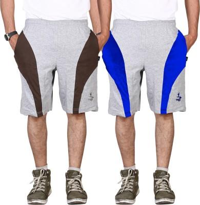 Vego Self Design Men,s Grey Gym Shorts