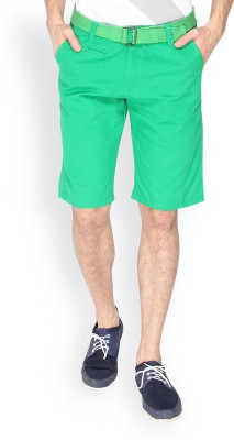 Campus Sutra Solid Men's Light Green Chino Shorts