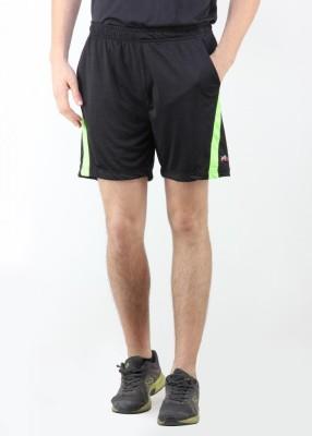 Dazzgear Solid Men's Black, Green Running Shorts