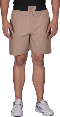 Black Casual Solid Men's Brown Basic Shorts, Sports Shorts, Gym Shorts, Night Shorts