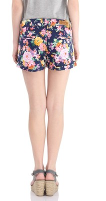 Pepe Jeans Printed Women's Blue Basic Shorts