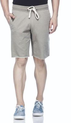 Tinted Solid Men's Green Basic Shorts