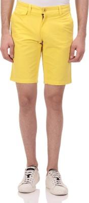 Ebry Solid Men's Yellow Chino Shorts