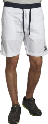 Beevee Solid Men,s White Beach Shorts, Gym Shorts, Running Shorts