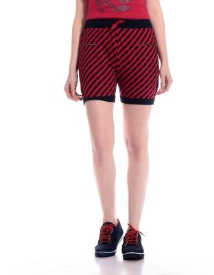 Tab91 Graphic Print Women's Maroon Basic Shorts