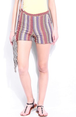 Dressberry Printed Women's Multicolor Hotpants