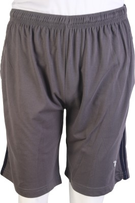 Proxim Solid Men's Brown Sports Shorts