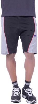 Huggers Solid Men's Black, Blue Gym Shorts