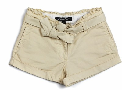 Allen Solly Solid Girl's Beige Basic Shorts
