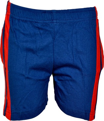 Gee & Bee Solid Boy's Dark Blue Sports Shorts