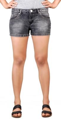 Klorophyl Woven Women's Grey Hotpants