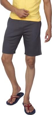 Allocate Solid Men's Grey Gym Shorts, Night Shorts, Running Shorts, Sports Shorts