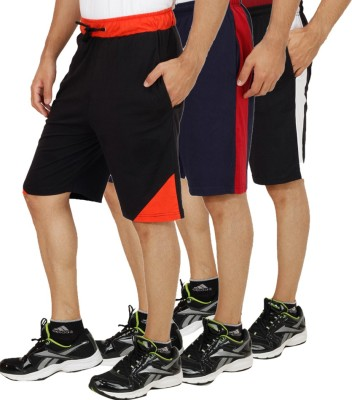 Christy World Solid Men,s Multicolor Sports Shorts