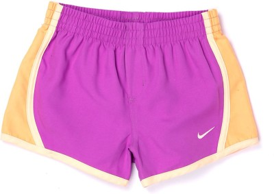 Nike Kids Solid Girl's Pink Basic Shorts