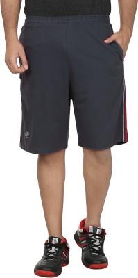 SST Striped Men's Grey Basic Shorts