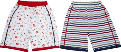 Pepito Floral Print Boy's White Bermuda Shorts