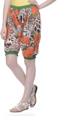 Lavennder Printed Women's Multicolor Gym Shorts