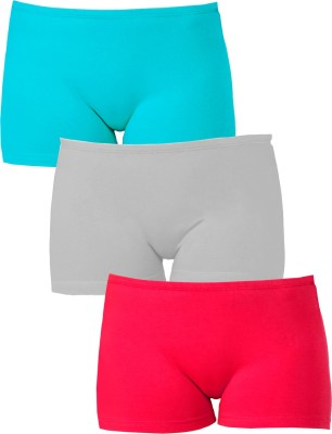 Softrose Solid Women's Light Green, Pink, Grey Sports Shorts