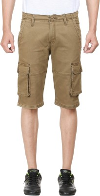 FX Jeans Co Solid Men's Brown Cargo Shorts