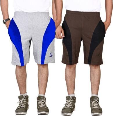 Vego Self Design Men,s Grey Sports Shorts