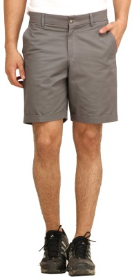 Fio Solid Men's Grey Basic Shorts