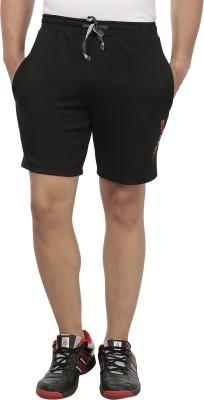 SPAWN Solid Men's Black Sports Shorts