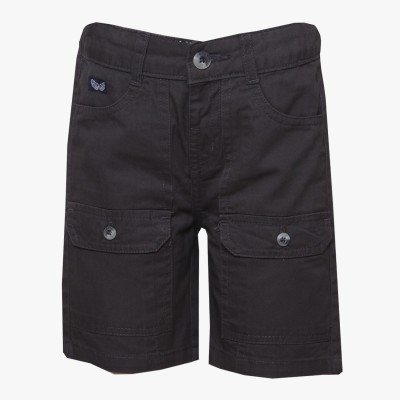 Tales & Stories Solid Boy,s Denim Grey Bermuda Shorts