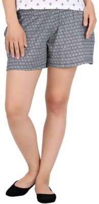 HALF INCH Printed Women's Blue Night Shorts