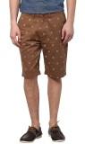 Atorse Printed Men's Beige Chino Shorts