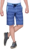 King & I Printed Men's Blue Chino Shorts