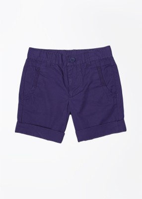 United Colors of Benetton Solid Baby Boy's Dark Blue Basic Shorts