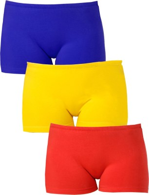 Softrose Solid Women's Red, Dark Blue, Yellow Sports Shorts