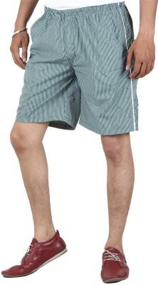Sapper Checkered Men's Green Gym Shorts