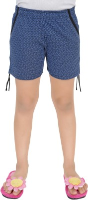 Just4You Printed Girl's Blue Night Shorts