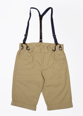United Colors of Benetton Self Design Boy's Beige Basic Shorts
