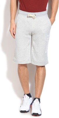 Russell Athletic Solid Men's Grey Basic Shorts