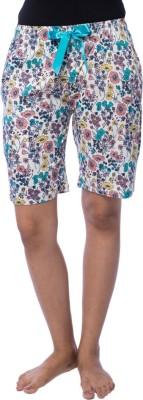 Nite Flite Floral Print Women's Multicolor Bermuda Shorts