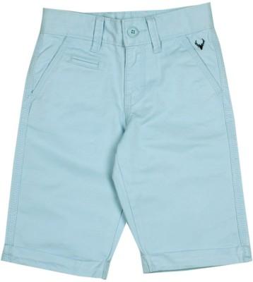 Allen Solly Solid Boy's Blue Bermuda Shorts