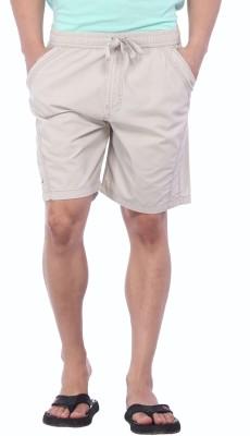 Bornfree Solid Men's Beige Bermuda Shorts