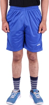 Calgary Solid Men's Blue Sports Shorts