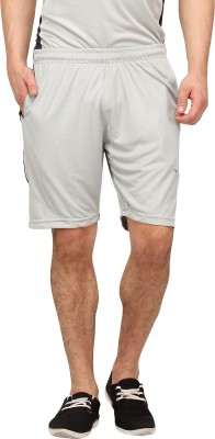 Campus Sutra Solid Men's Grey Sports Shorts
