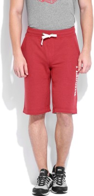 Russell Athletic Solid Men's Red Basic Shorts